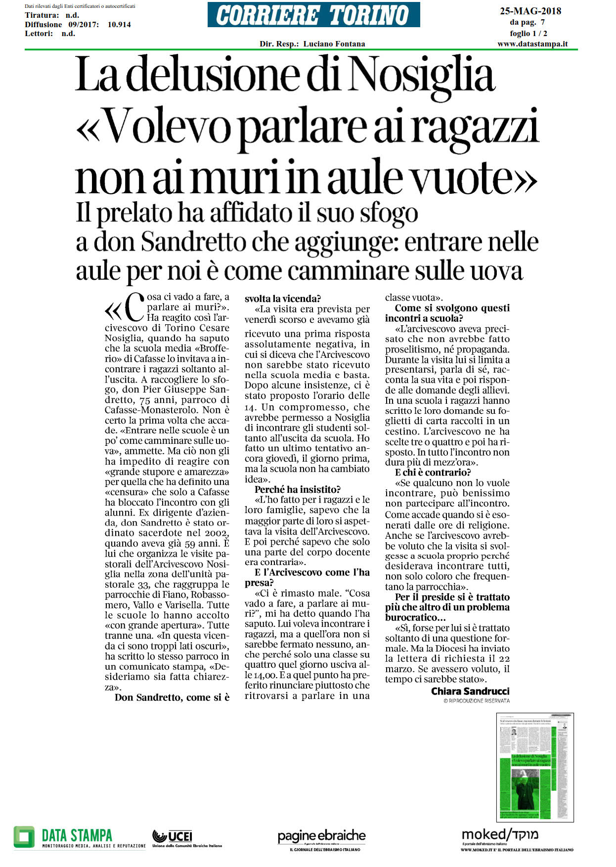 Torino negata visita pastorale