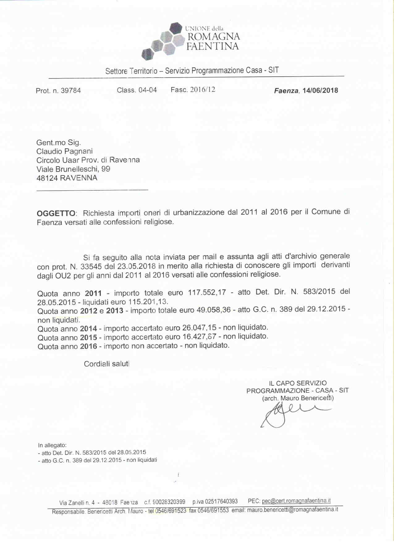 OU2 Comune Faenza 2011- 2016