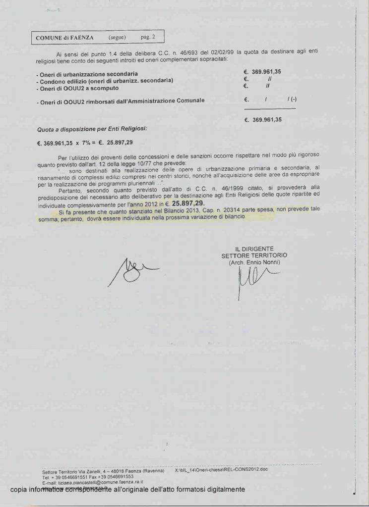 OU2 Comune Faenza 2011- 20162