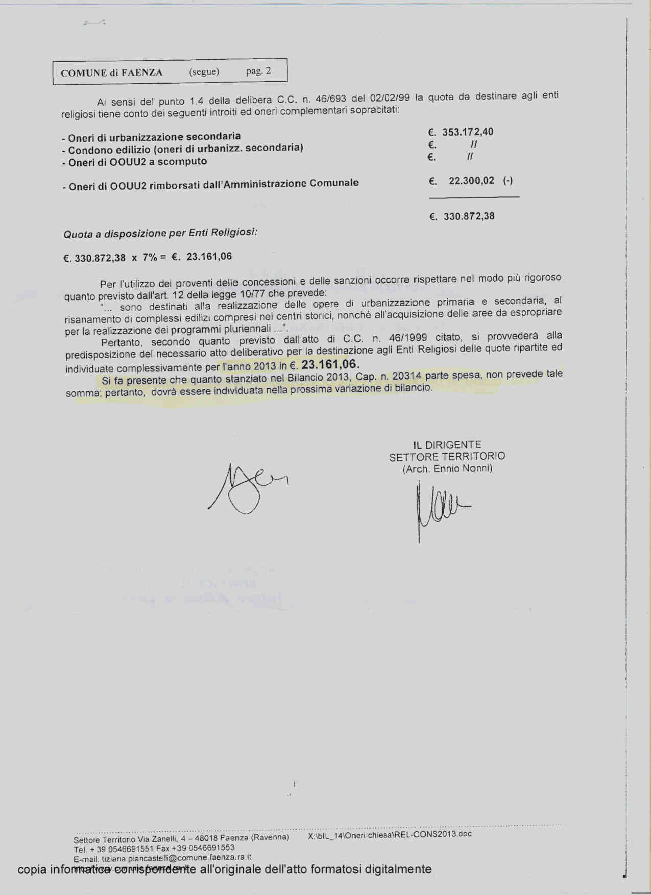 OU2 Comune Faenza 2011- 20163